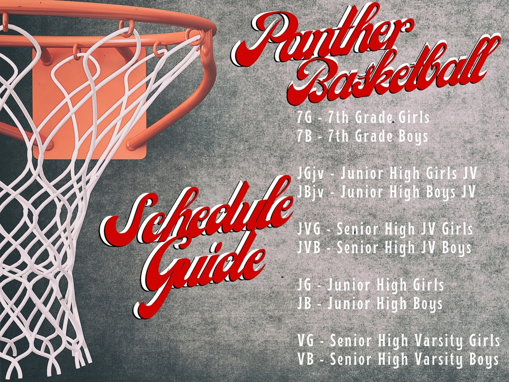 Panther Basketball Schedule Guide