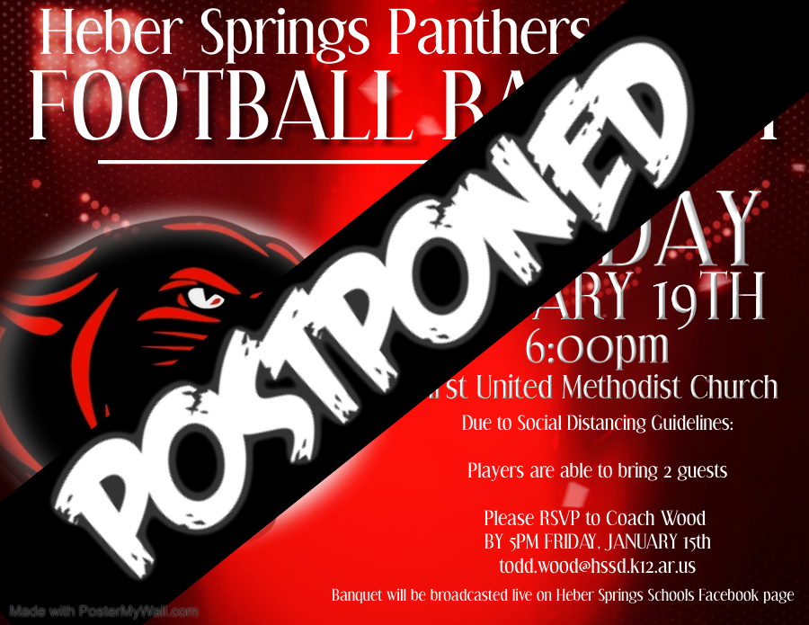 football banquet postponed