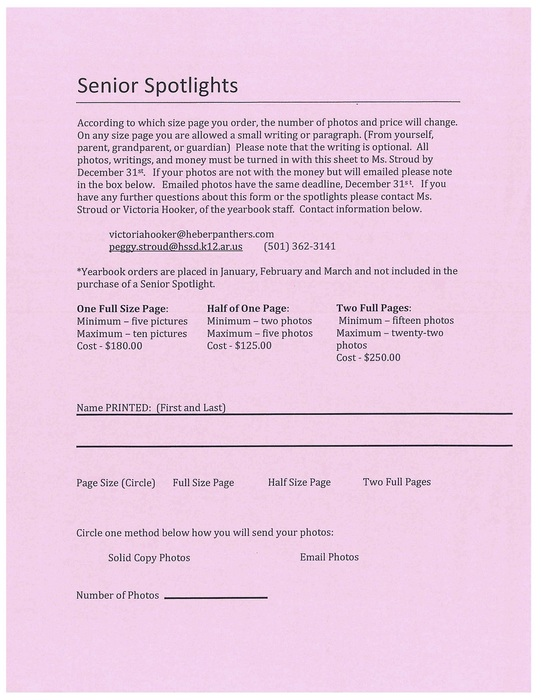 Senior Spotlight Information