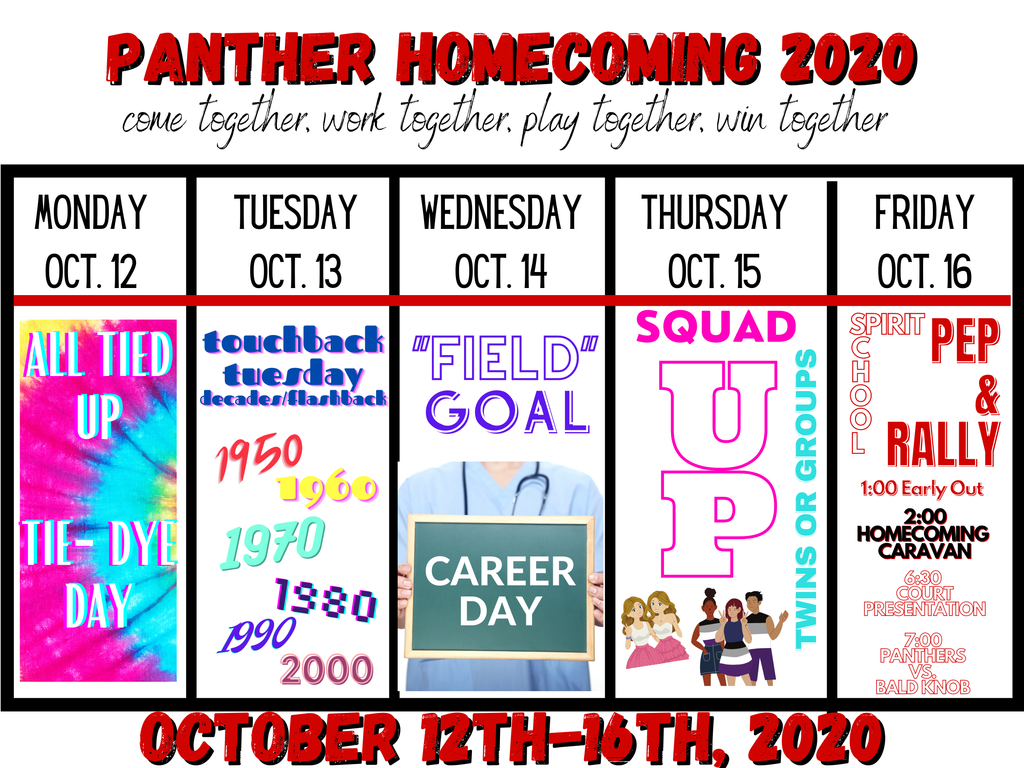 Homecoming dress up days